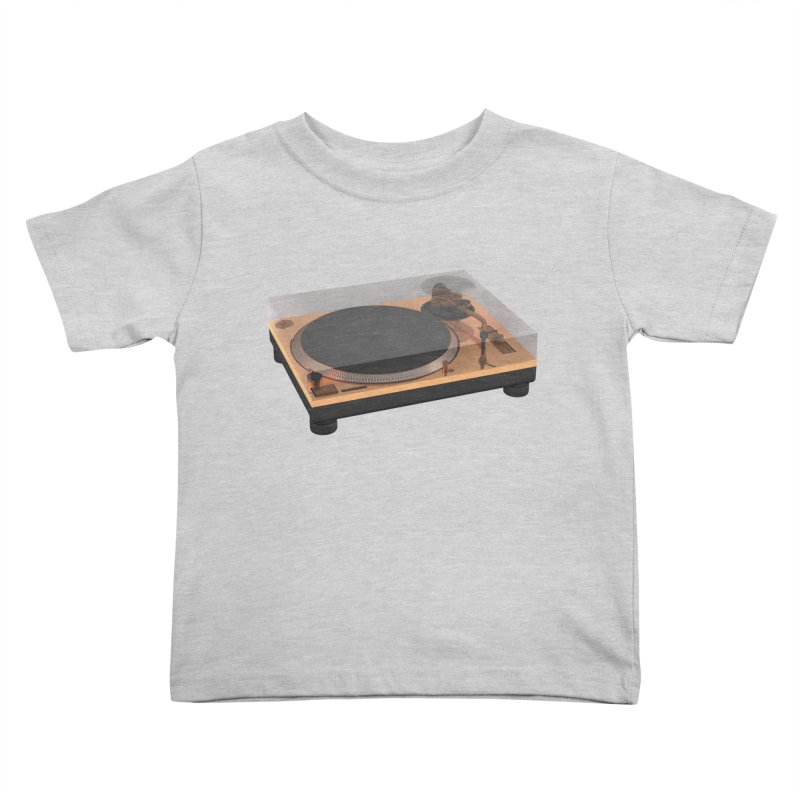 Golden Turntable Kids Toddler T-Shirt by Rickard Arvius