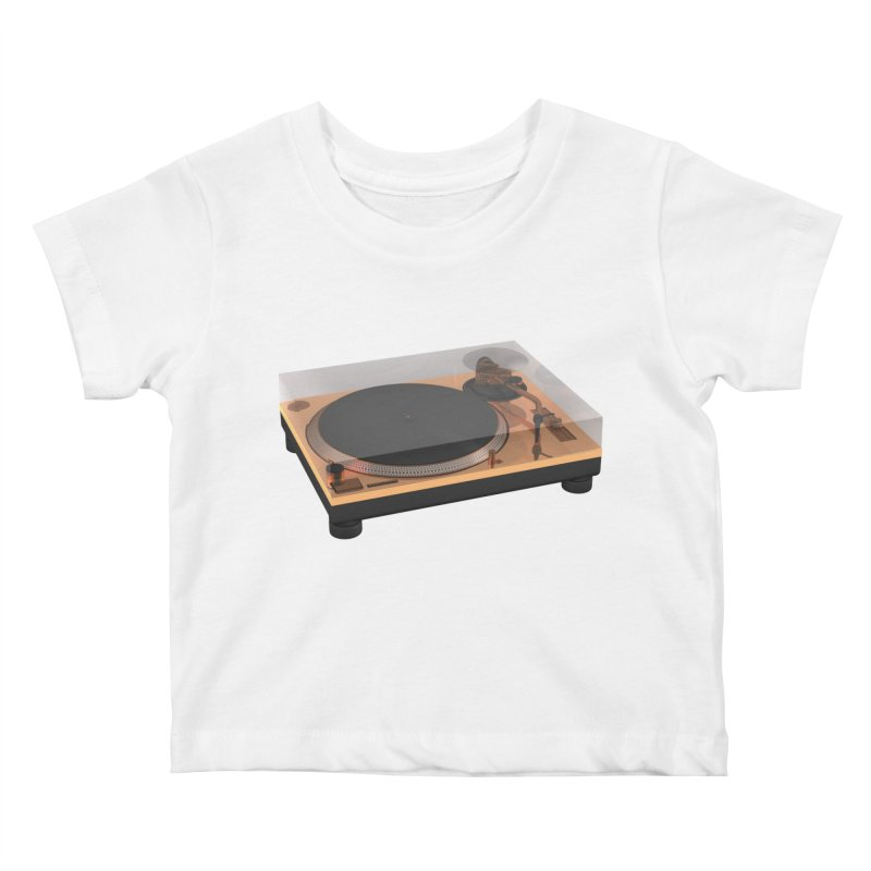 Golden Turntable Kids Baby T-Shirt by Rickard Arvius