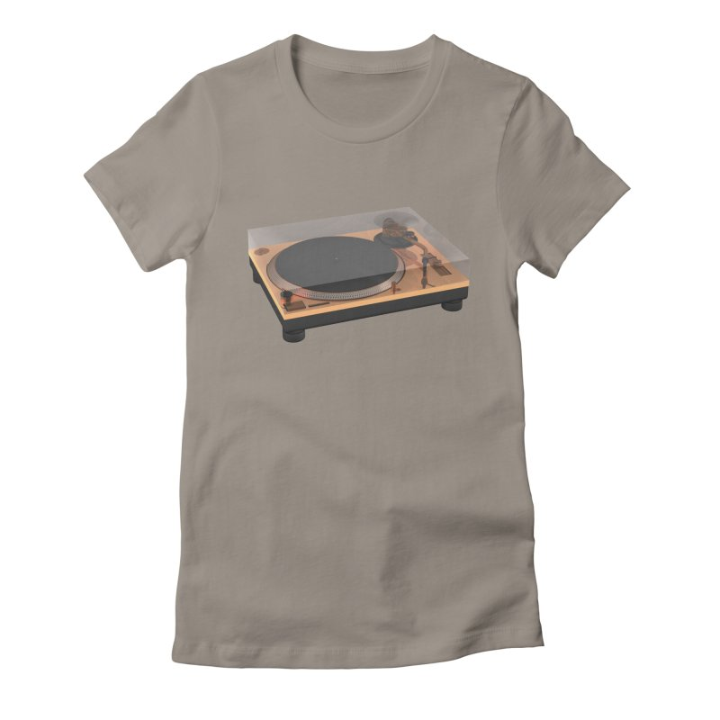 Golden Turntable Women's T-Shirt by Rickard Arvius