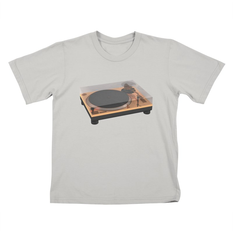 Golden Turntable Kids T-shirt by Rickard Arvius