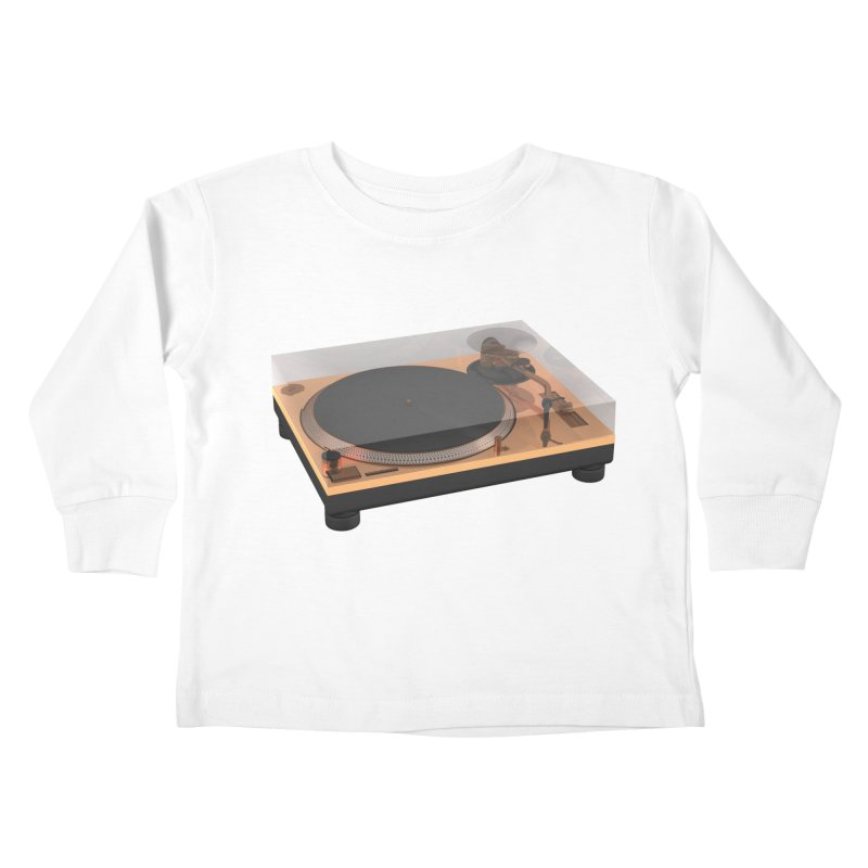 Golden Turntable Kids Toddler Longsleeve T-Shirt by Rickard Arvius
