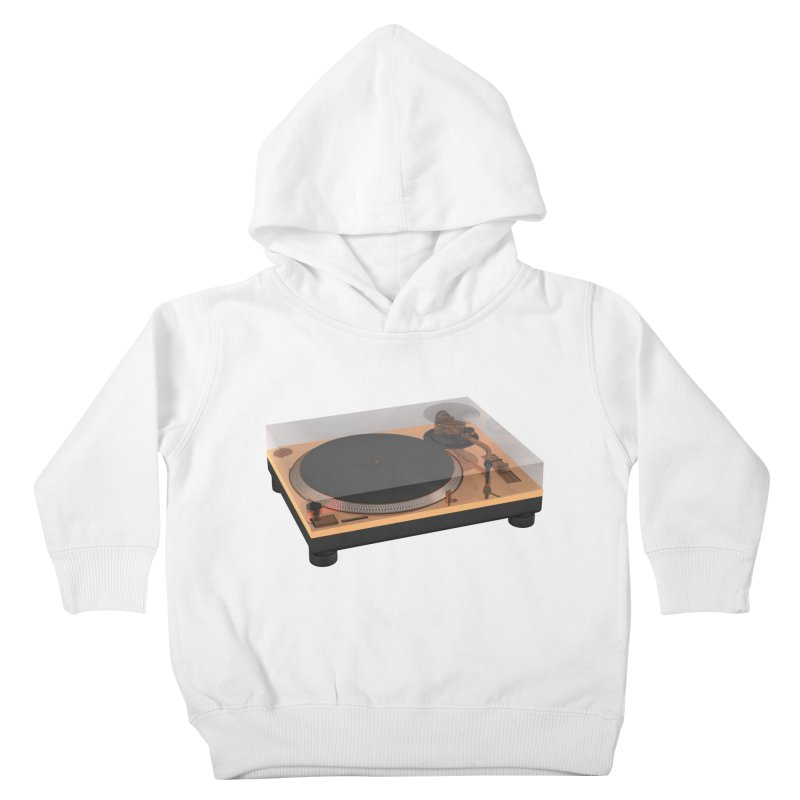 Golden Turntable Kids Toddler Pullover Hoody by Rickard Arvius