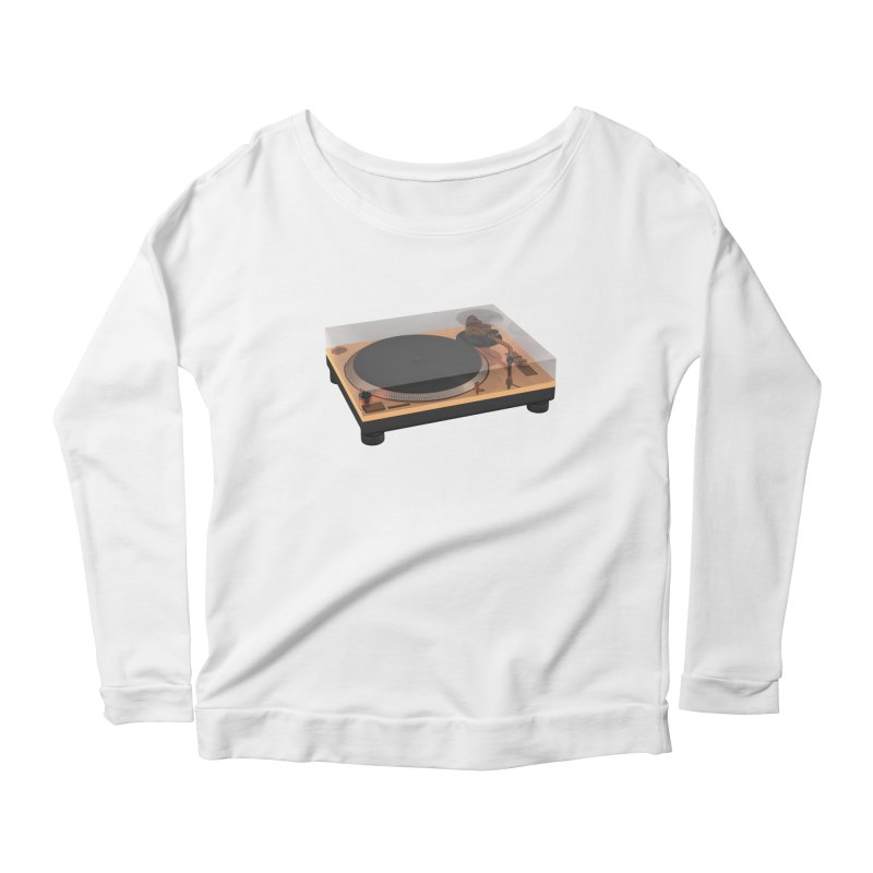 Golden Turntable Women's Scoop Neck Longsleeve T-Shirt by Rickard Arvius
