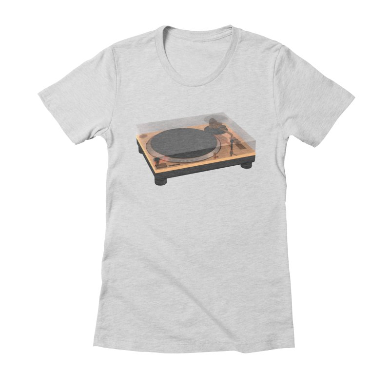 Golden Turntable Women's Fitted T-Shirt by Rickard Arvius