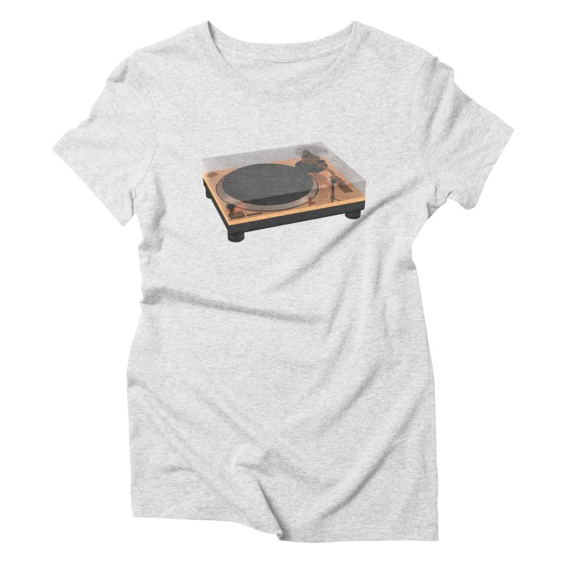 Golden Turntable Women's Triblend T-Shirt by Rickard Arvius