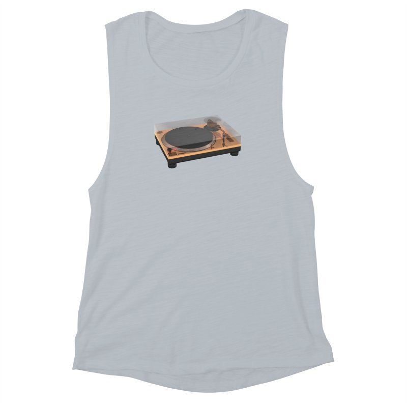 Golden Turntable Women's Muscle Tank by Rickard Arvius