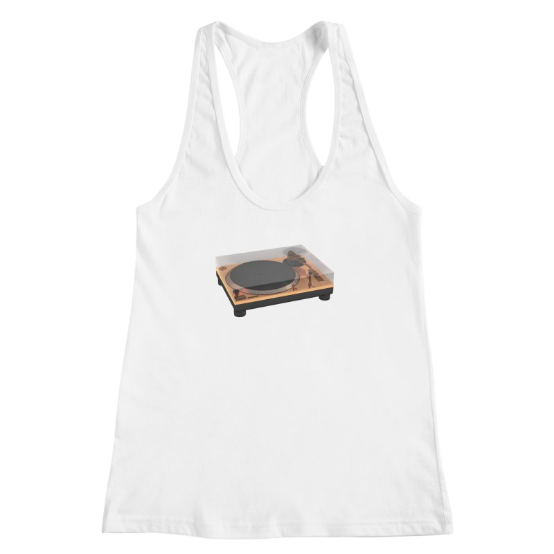 Golden Turntable Women's Racerback Tank by Rickard Arvius