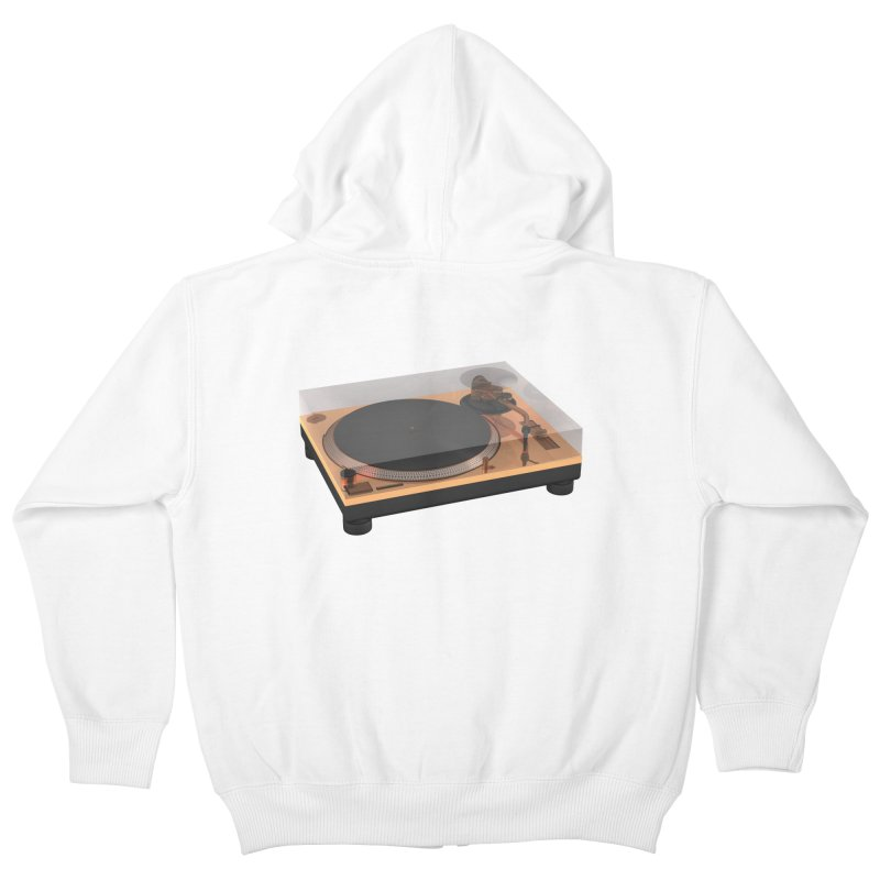 Golden Turntable Kids Zip-Up Hoody by Rickard Arvius