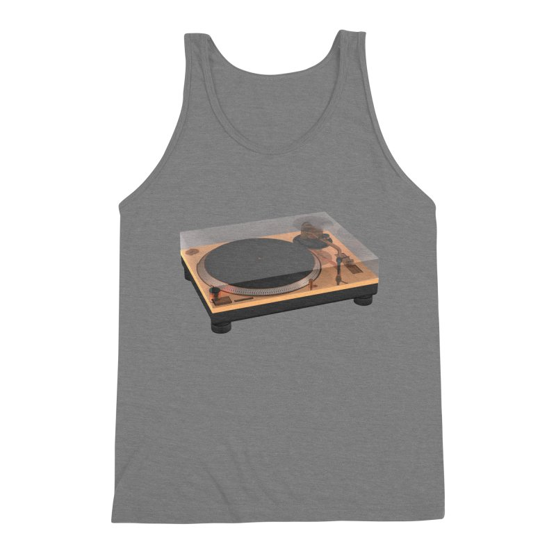 Golden Turntable Men's Triblend Tank by Rickard Arvius