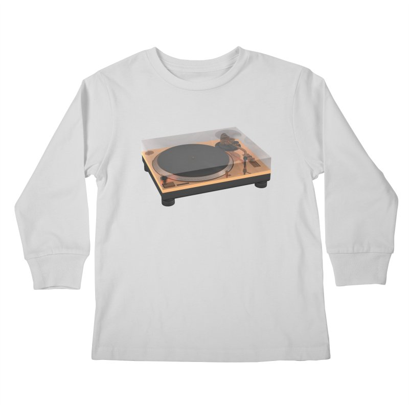 Golden Turntable Kids Longsleeve T-Shirt by Rickard Arvius