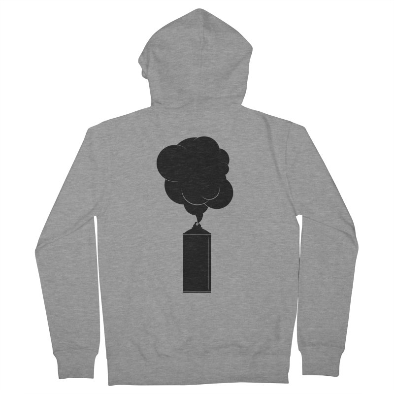 Art Supplies Black Men's French Terry Zip-Up Hoody by Rickard Arvius