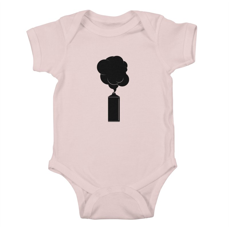Art Supplies Black Kids Baby Bodysuit by Rickard Arvius