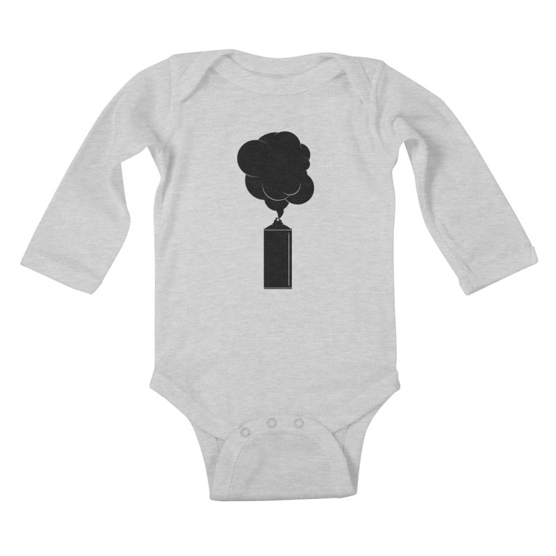 Art Supplies Black Kids Baby Longsleeve Bodysuit by Rickard Arvius