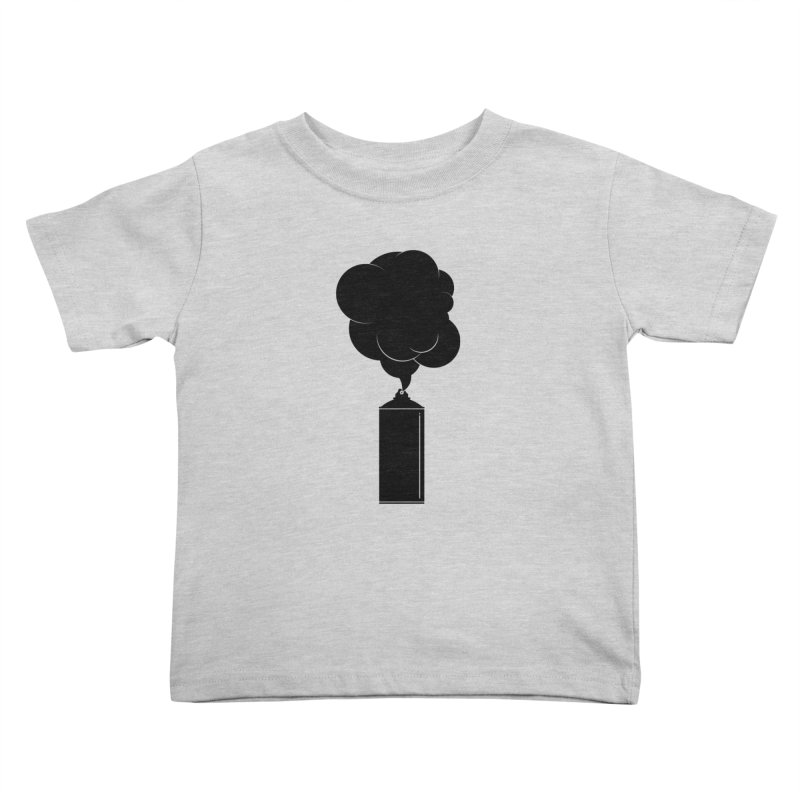 Art Supplies Black Kids Toddler T-Shirt by Rickard Arvius