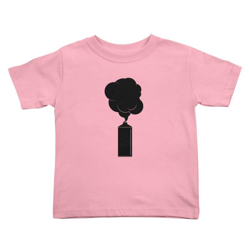 Art Supplies Black Kids Toddler T-Shirt by Rickard Arvius