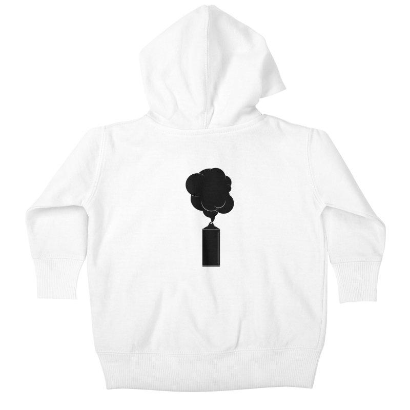 Art Supplies Black Kids Baby Zip-Up Hoody by Rickard Arvius