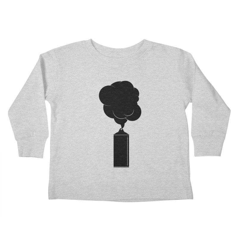 Art Supplies Black Kids Toddler Longsleeve T-Shirt by Rickard Arvius