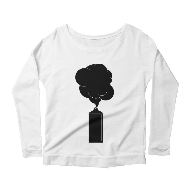 Art Supplies Black Women's Scoop Neck Longsleeve T-Shirt by Rickard Arvius