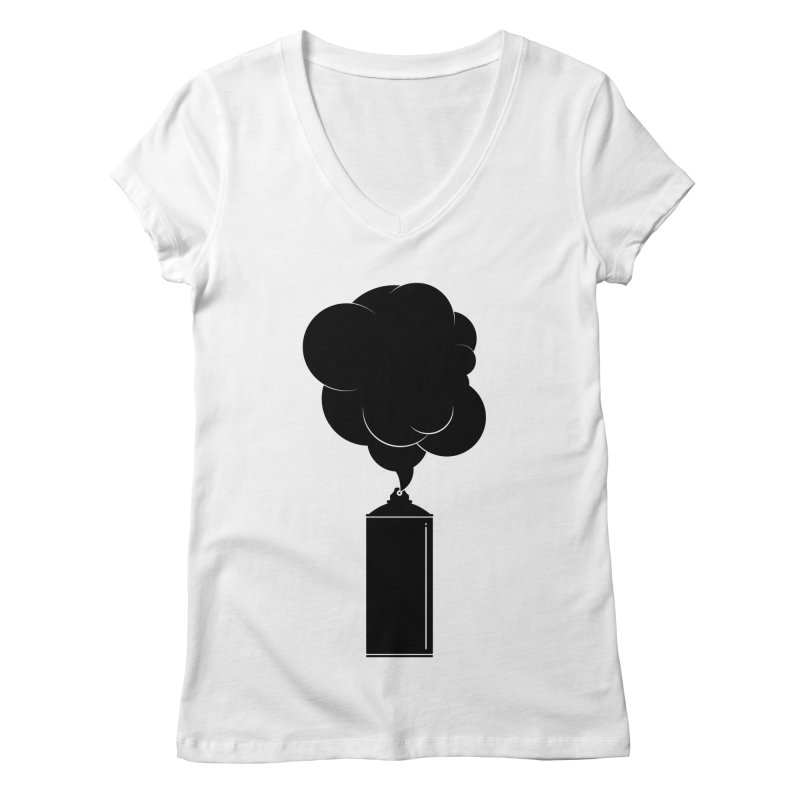 Art Supplies Black Women's V-Neck by Rickard Arvius