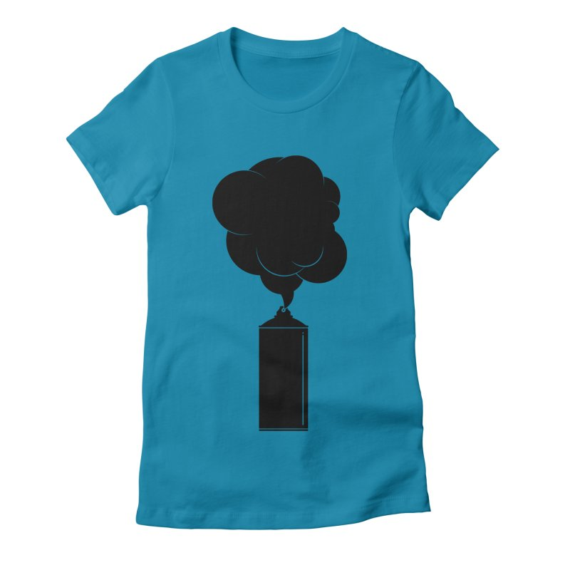 Art Supplies Black Women's Fitted T-Shirt by Rickard Arvius