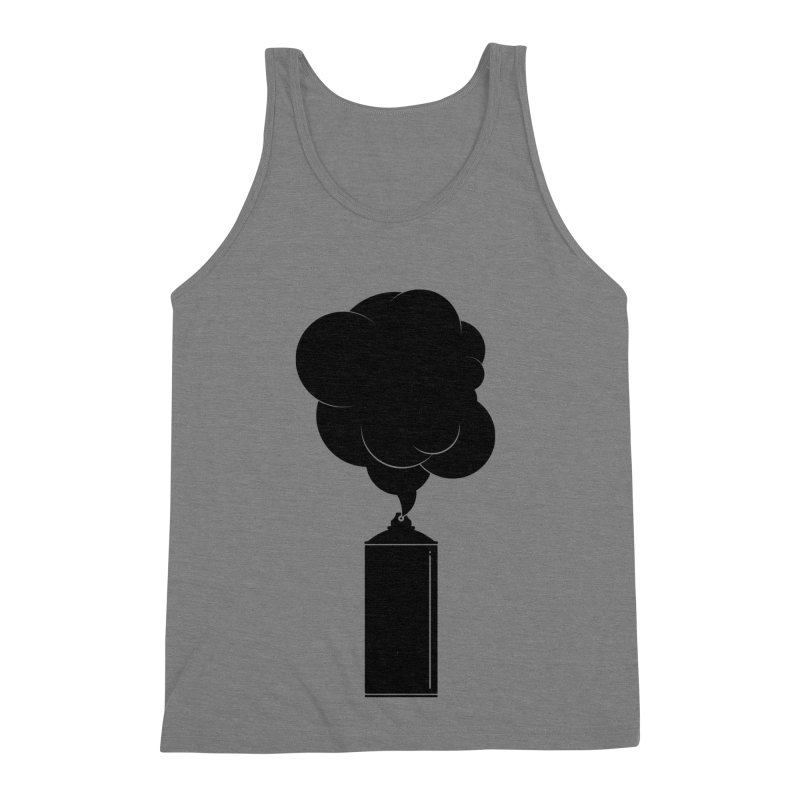 Art Supplies Black Men's Triblend Tank by Rickard Arvius