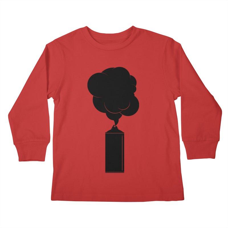 Art Supplies Black Kids Longsleeve T-Shirt by Rickard Arvius
