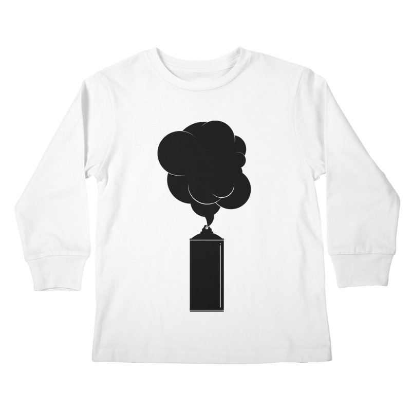Art Supplies Black Kids Longsleeve T-Shirt by Rickard Arvius