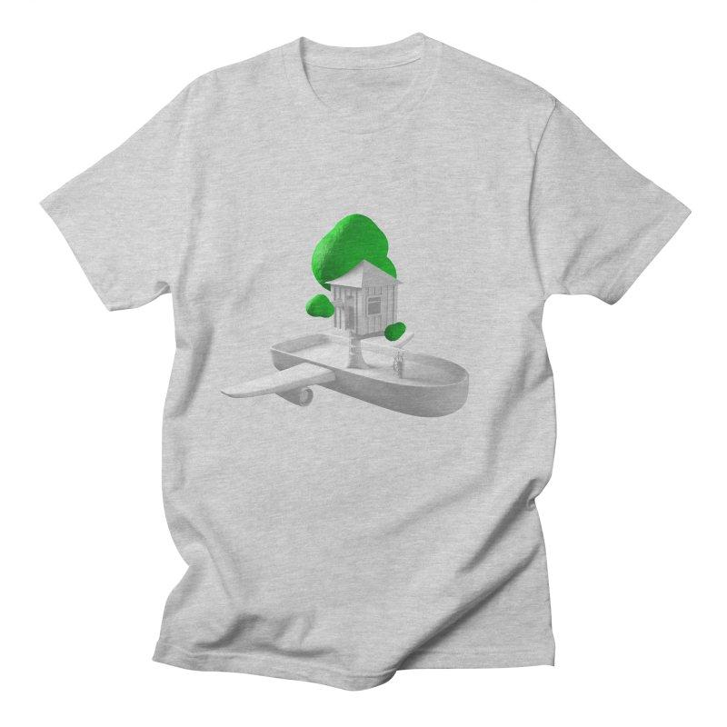 Tree House Boat Men's T-Shirt by Rickard Arvius