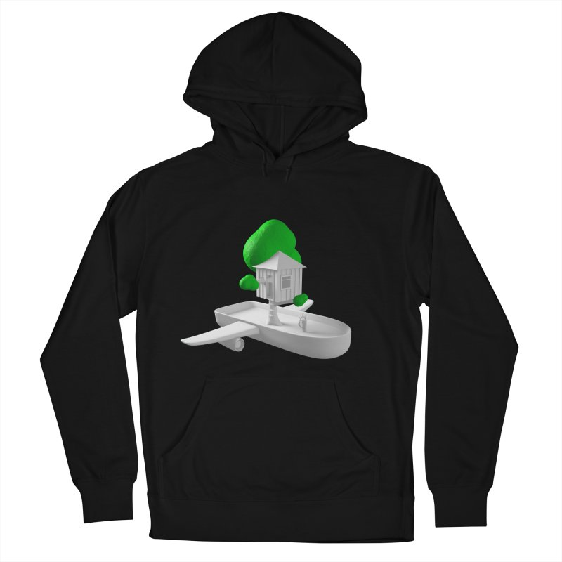 Tree House Boat Women's French Terry Pullover Hoody by Rickard Arvius