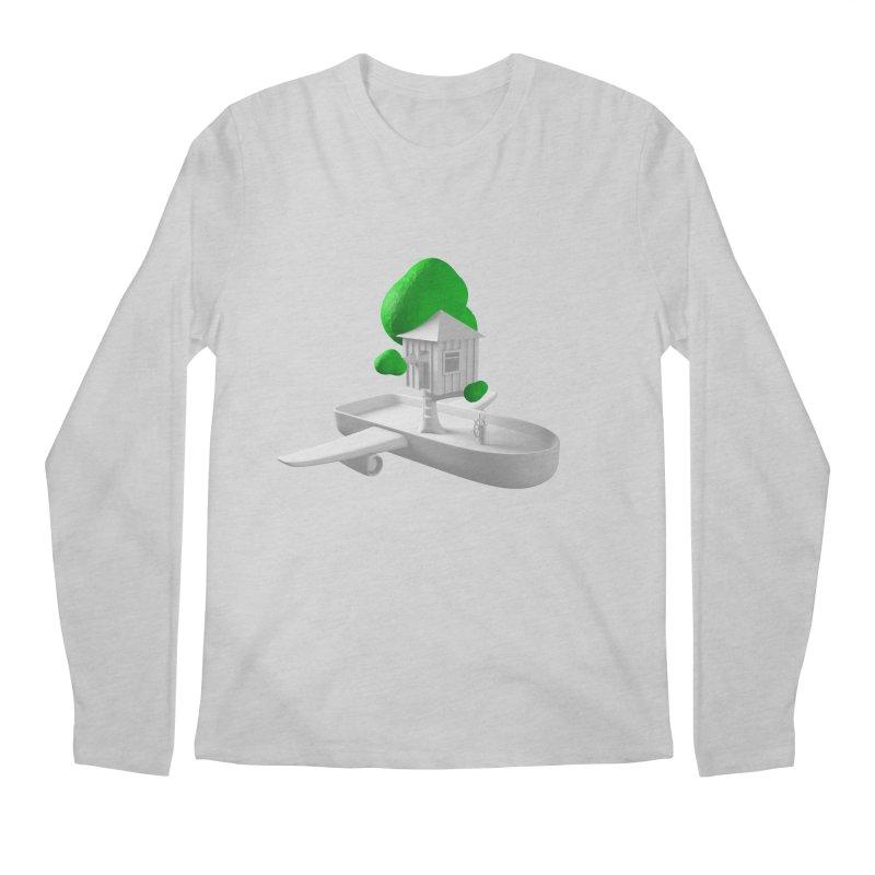 Tree House Boat Men's Regular Longsleeve T-Shirt by Rickard Arvius