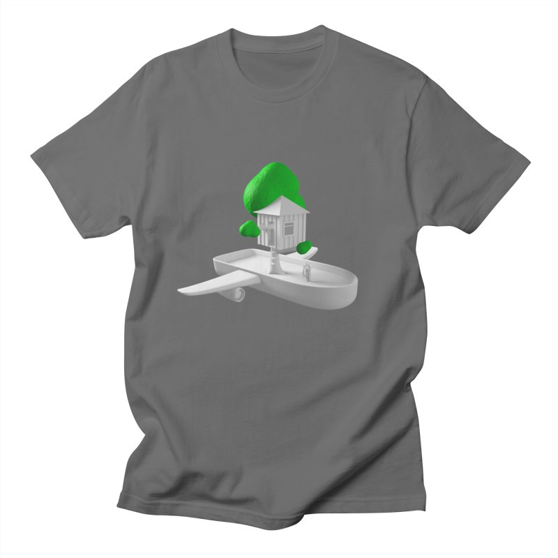 Tree House Boat Men's T-Shirt by Rickard Arvius