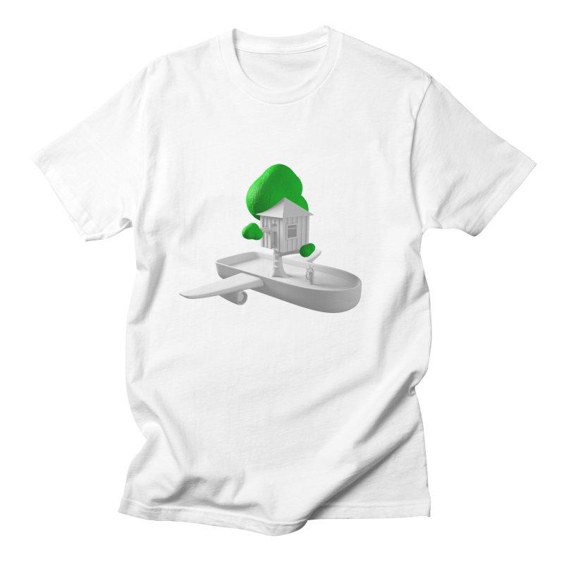Tree House Boat Men's Regular T-Shirt by Rickard Arvius