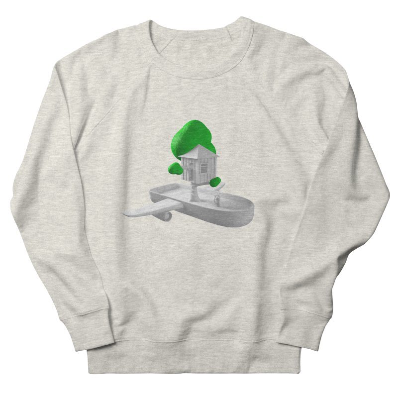 Tree House Boat Women's French Terry Sweatshirt by Rickard Arvius