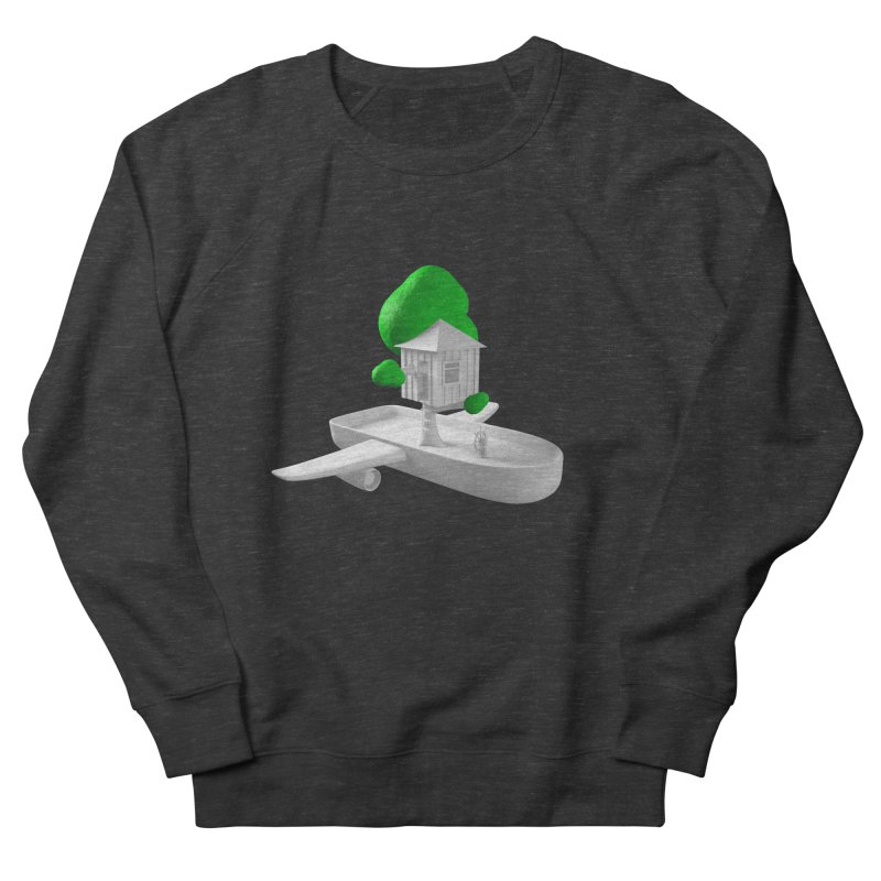 Tree House Boat Men's French Terry Sweatshirt by Rickard Arvius