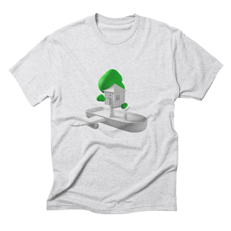 Tree House Boat Men's Triblend T-Shirt by Rickard Arvius