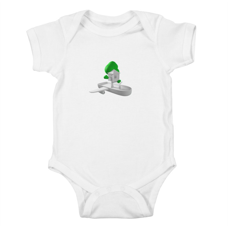 Tree House Boat Kids Baby Bodysuit by Rickard Arvius