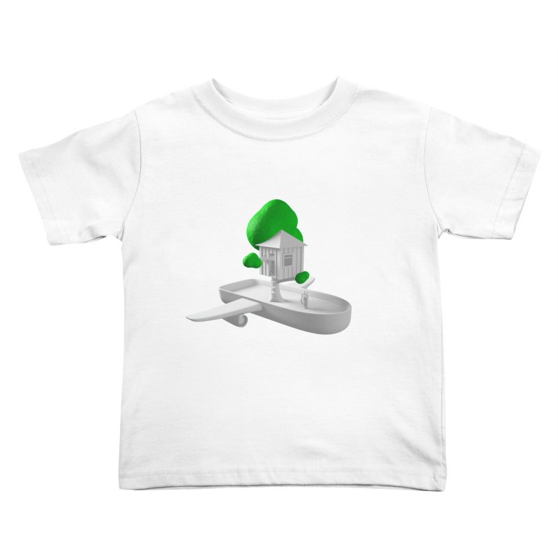 Tree House Boat Kids Toddler T-Shirt by Rickard Arvius
