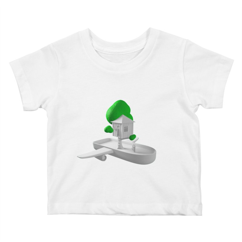 Tree House Boat Kids Baby T-Shirt by Rickard Arvius