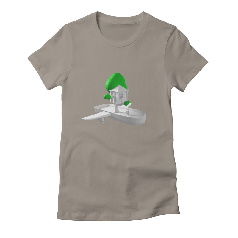 Tree House Boat Women's T-Shirt by Rickard Arvius