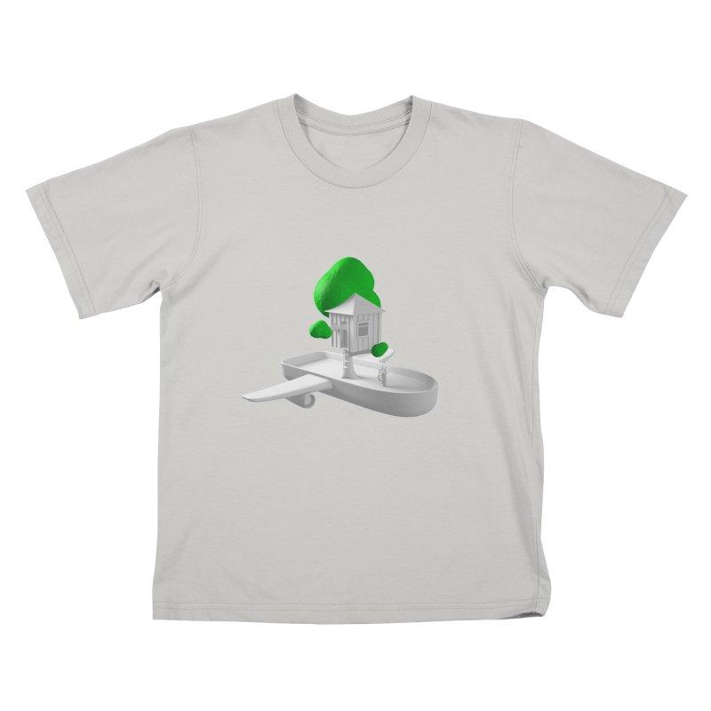 Tree House Boat Kids T-Shirt by Rickard Arvius