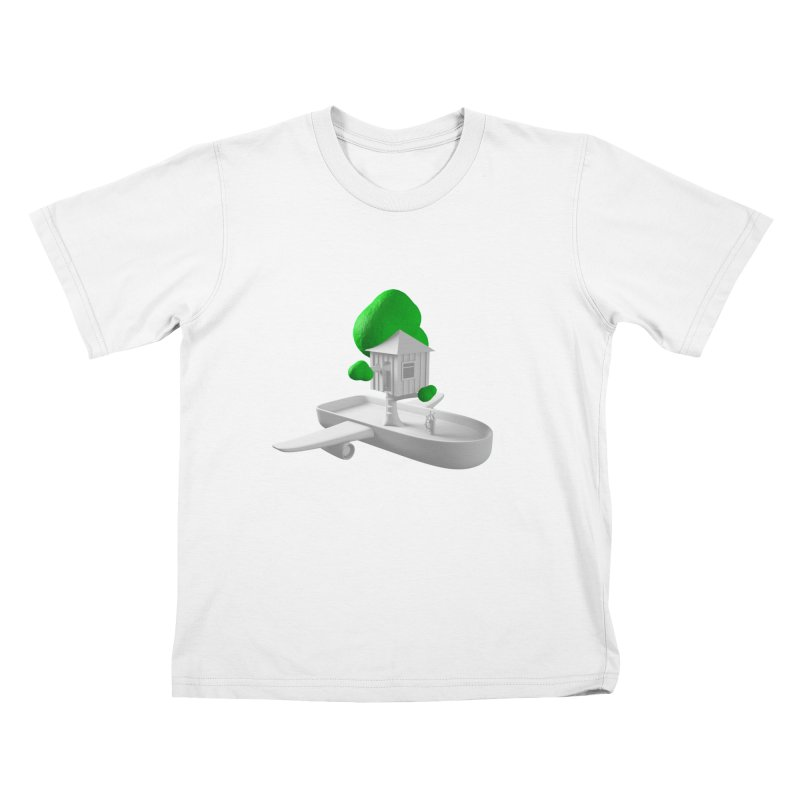Tree House Boat Kids T-Shirt by Rickard Arvius