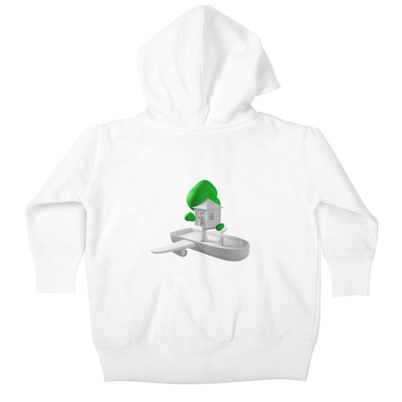 Tree House Boat Kids Baby Zip-Up Hoody by Rickard Arvius