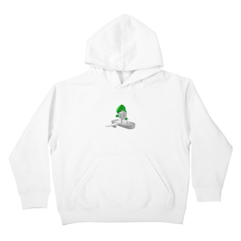 Tree House Boat Kids Pullover Hoody by Rickard Arvius