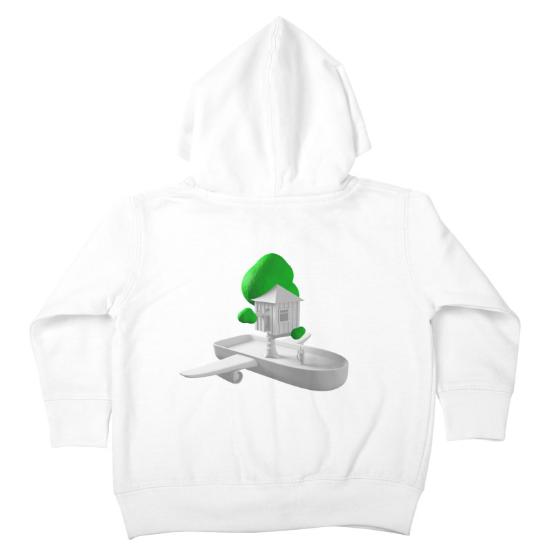 Tree House Boat Kids Toddler Zip-Up Hoody by Rickard Arvius