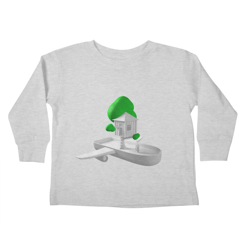Tree House Boat Kids Toddler Longsleeve T-Shirt by Rickard Arvius