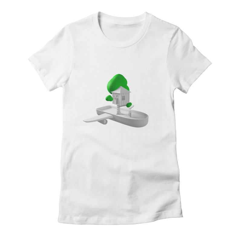 Tree House Boat Women's T-Shirt by Rickard Arvius