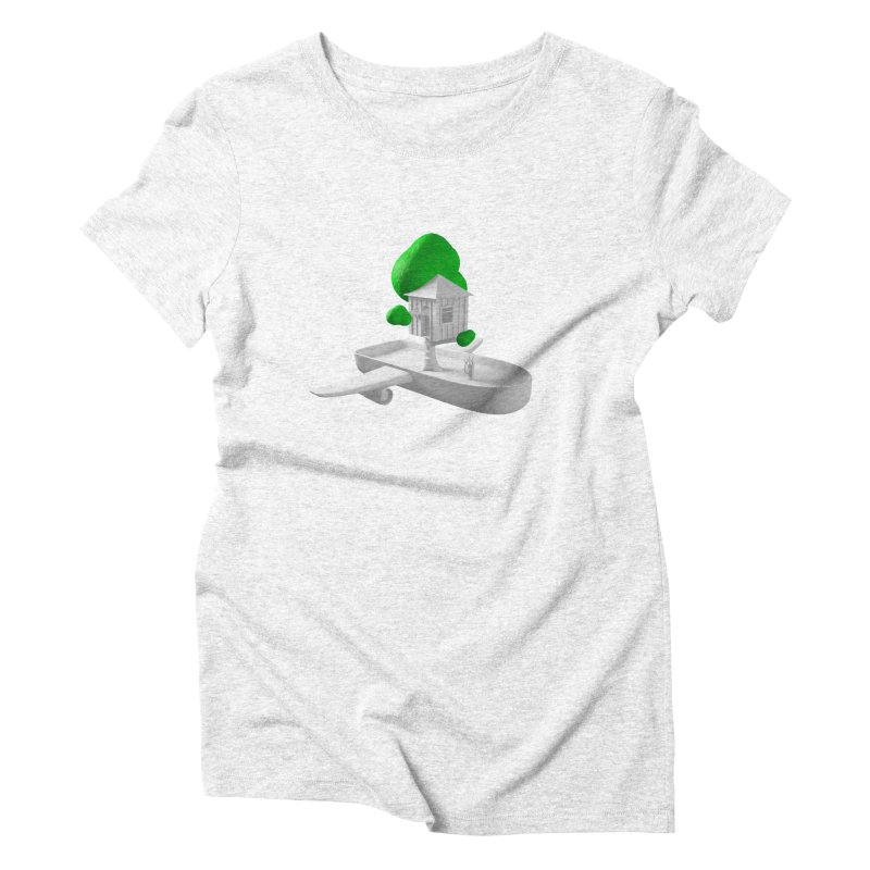 Tree House Boat Women's Triblend T-shirt by Rickard Arvius