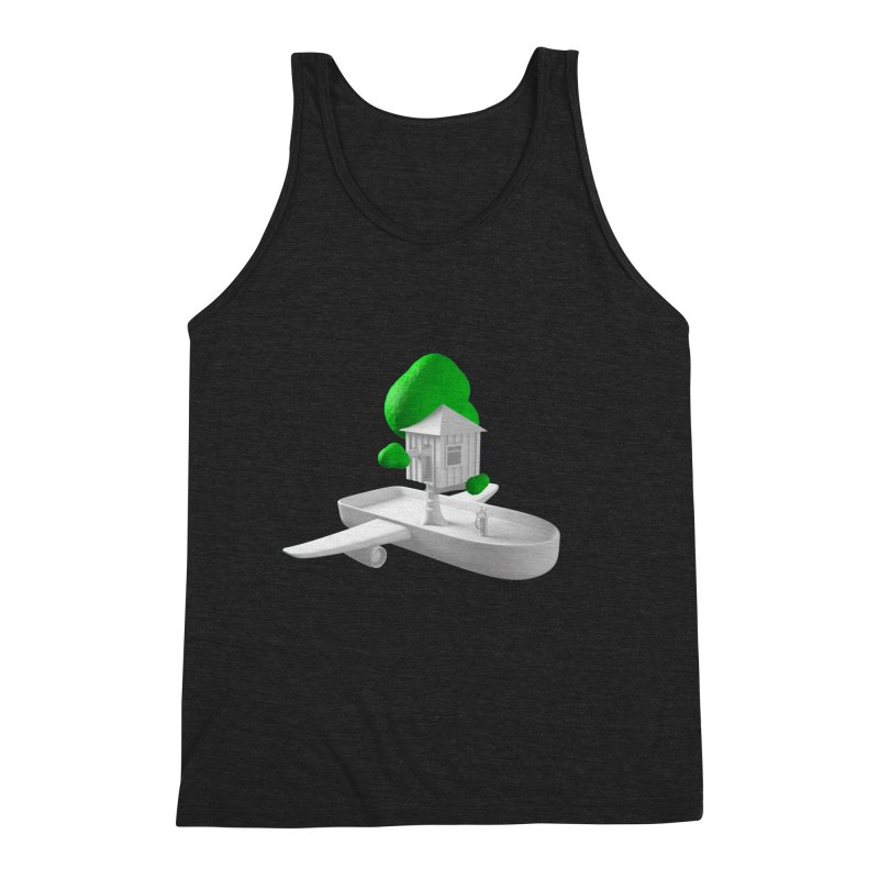 Tree House Boat Men's Triblend Tank by Rickard Arvius