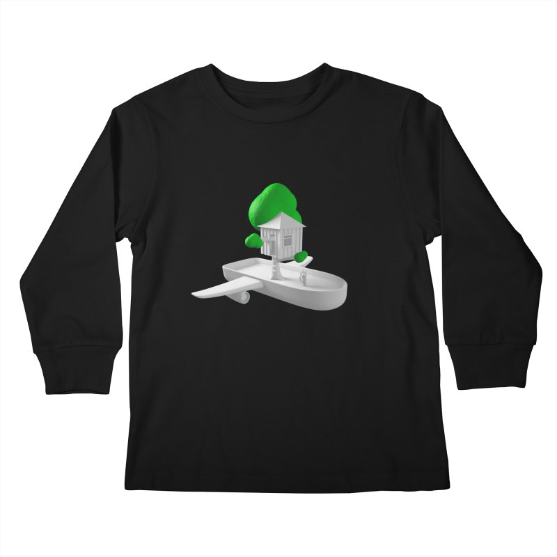 Tree House Boat Kids Longsleeve T-Shirt by Rickard Arvius