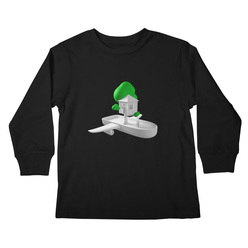 Tree House Boat Kids Longsleeve T-Shirt by Rickard Arvius